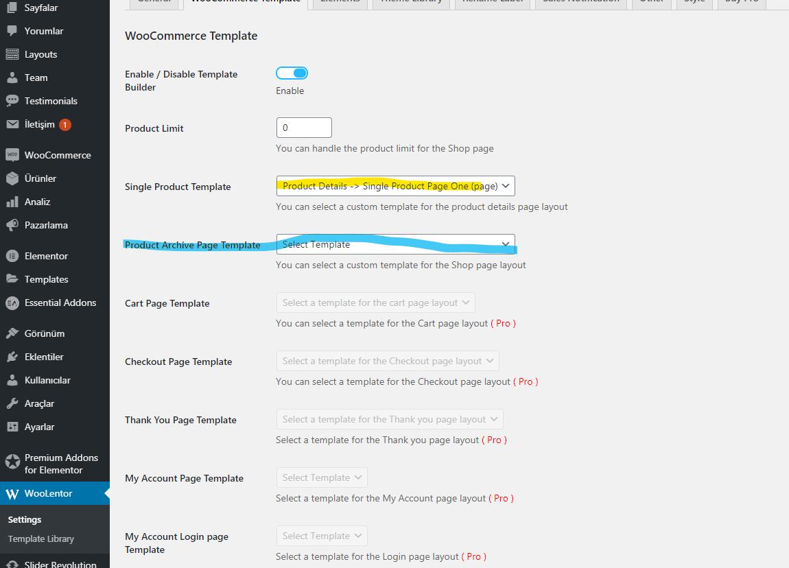 WordPress Ürün Sayfası Tasarımı